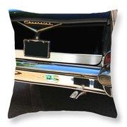 1957 Chevy Rear View Car Art Throw Pillow