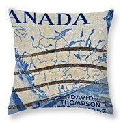1957 David Thompson Canada Stamp Throw Pillow