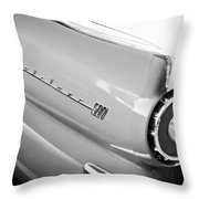 1957 Ford Fairlane 500 Taillight Emblem Throw Pillow
