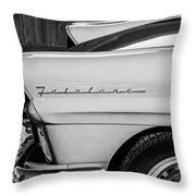 1957 Ford Fairlane Emblem -359bw Throw Pillow
