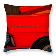 1957 Ford Fairlane Emblem -359c Throw Pillow