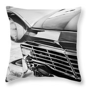 1957 Ford Fairlane Grille -107bw Throw Pillow