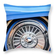 1957 Ford Fairlane Wheel Throw Pillow