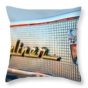 1957 Ford Skyliner Retractable Hardtop Emblem Throw Pillow