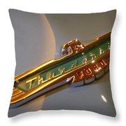 1957 Ford Thunderbird Emblem Throw Pillow
