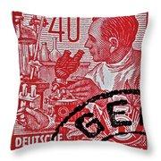 1957 German Democratic Republic Chemist Stamp Throw Pillow