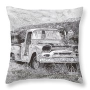 Ran When Parked Throw Pillow