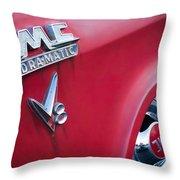 1957 Gmc V8 Pickup Truck Gmc Hydra-matic Emblem Throw Pillow