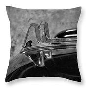 1957 Lincoln Capri Hood Ornament Throw Pillow