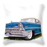 1957 Lincoln Premiere Convert Throw Pillow