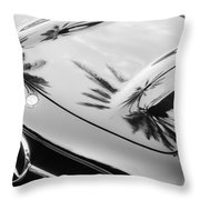 1957 Mercedes-benz 300sl Grille Emblem -0167bw Throw Pillow