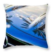 1957 Mercedes-benz 300sl Grille Emblem -0167c Throw Pillow
