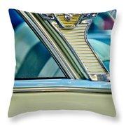 1957 Mercury Monterey Sedan Emblem Throw Pillow