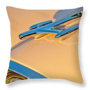 1957 Oldsmobile Hood Ornament 6 Throw Pillow