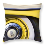 1957 Pontiac Starchief Wheel Cover Throw Pillow