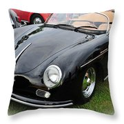 1957 Porsche Speedster 1600 Super Throw Pillow