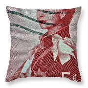 1957 St. Lawrence Seaway Opening Stamp Throw Pillow