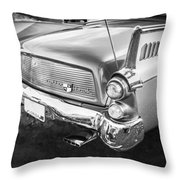1957 Studebaker Golden Hawk Bw    Throw Pillow