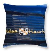 1957 Studebaker Golden Hawk Supercharged Sports Coupe Emblem Throw Pillow