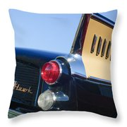 1957 Studebaker Golden Hawk Supercharged Sports Coupe Taillight Emblem Throw Pillow