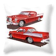 1957 Studebaker Silver Hawk Throw Pillow