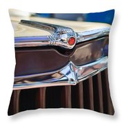 1957 Willys Wagon Grille Throw Pillow