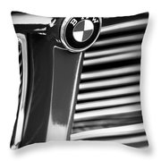 1958 Bmw 3200 Michelotti Vignale Roadster Grille Emblem -2414bw Throw Pillow
