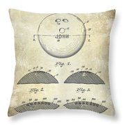 1958 Bowling Patent Drawing Throw Pillow