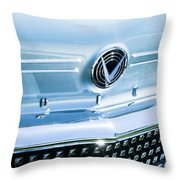 1958 Buick Roadmaster 75 Convertible Grille Emblem Throw Pillow