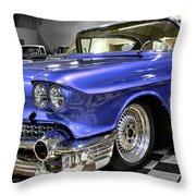 1958 Cadillac Deville Throw Pillow