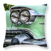 1958 Cadillac Headlights Throw Pillow