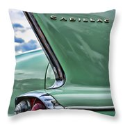 1958 Cadillac It's All In The Fin. Throw Pillow