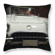 1958 Chevrolet Corvette Throw Pillow