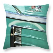 1958 Chevrolet Impala Emblem Throw Pillow