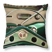 1958 Chevrolet Impala Steering Wheel Throw Pillow