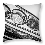 1958 Chevrolet Impala Taillight -0289bw Throw Pillow