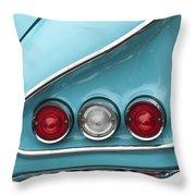 1958 Chevrolet Impala Taillights  Throw Pillow