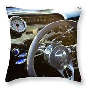 1958 Chevy Impala Dashboard Throw Pillow