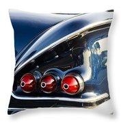 1958 Chevy Impala Tail Lights Throw Pillow