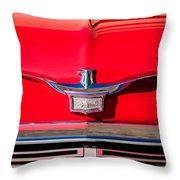 1958 Chrysler Imperial Crown Convertible Emblem Throw Pillow