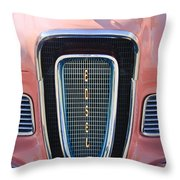 1958 Edsel Pacer Grille Emblem Throw Pillow