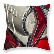 1958 Edsel Wagon Tail Light Throw Pillow