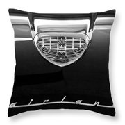 1958 Ford Fairlane 500 Victoria Hood Emblem Throw Pillow