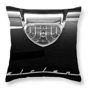 1958 Ford Fairlane 500 Victoria Hood Emblem Throw Pillow by Jill Reger