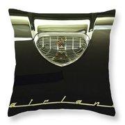 1958 Ford Fairlane 500 Victoria Hood Ornament Throw Pillow