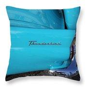 1958 Ford Thunderbird Detail Throw Pillow