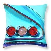 1958 Impala Palm Springs Throw Pillow