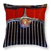 1958 Jaguar Xk150 Roadster Grille Emblem Throw Pillow by Jill Reger