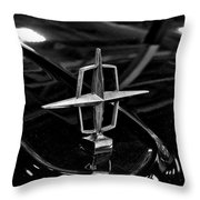 1958 Lincoln Continental Hood Ornament Throw Pillow