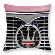 1958 Maserati Hood Emblem Throw Pillow